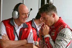 Dr. Wolfgang Ullrich, Audi-Sportchef, mit André Lotterer, Audi Sport Team Joest