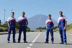Alexander Wurz, Stéphane Sarrazin, Mike Conway and Anthony Davidson, Toyota Racing