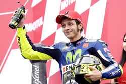 Valentino Rossi, Yamaha Factory Racing, deuxième de la course
