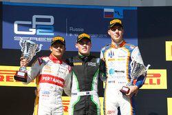 Podium: 1. Richie Stanaway, Status Grand Prix; 2. Rio Haryanto, Campos Racing; 3. Raffaele Marciello