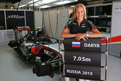 Darya Klishina, verspringster met het Sahara Force India F1 Team