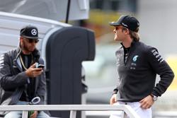 Nico Rosberg, Mercedes AMG F1 Team y Lewis Hamilton, Mercedes AMG F1 Team
