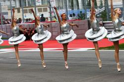 Tänzer in der Startaufstellung