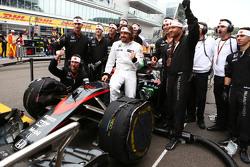 Fernando Alonso, McLaren MP4-30 fête son 250e GP sur la grille