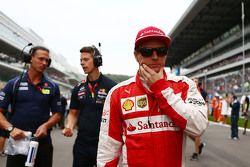 Kimi Raikkonen, Ferrari sur la grille