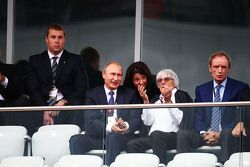 Russisch president Vladimir Putin met Bernie Ecclestone