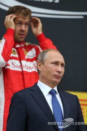 Vladimir Putin, Russian President e Sebastian Vettel, Scuderia Ferrari