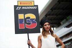 Grid girl for Pastor Maldonado, Lotus F1 Team