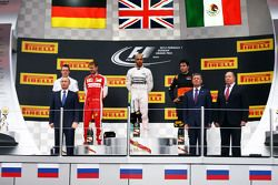 Sebastian Vettel, Ferrari, Lewis Hamilton, Mercedes AMG F1, Sergio Perez, Sahara Force India F1
