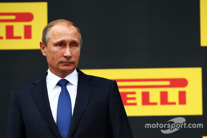 Vladimir Putin, Russian Federation President on the podium