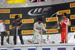Podium : Sergio Perez, Sahara Force India F1; Lewis Hamilton, Mercedes AMG F1, Sebastian Vettel, Ferrari