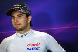 Sergio Perez, Sahara Force India F1 in the FIA Press Conference