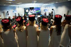 Les Grid Girls lors de la conférence de presse de la FIA