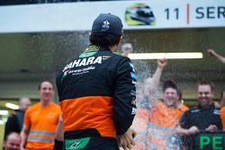 Sahara Force India F1 Team fête la troisième place de Sergio Perez, Sahara Force India F1