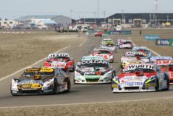 Leonel Pernia, Las Toscas Racing Chevrolet, Juan Martin Trucco, JMT Motorsport Dodge, Gaston Mazzaca