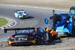 #1 Belgian Audi Club Team WRT Audi R8 LMS: Christopher Mies, Robin Frijns spin