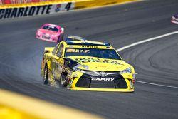 Matt Kenseth, Joe Gibbs Racing Toyota crashes