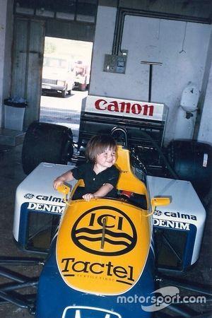 Nelsinho Piquet da bambino