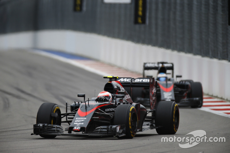 Jenson Button y Fernando Alonso, McLaren