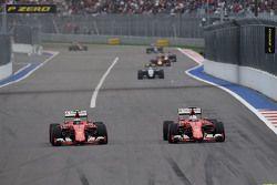 Kimi Raikkonen and Sebastian Vettel, Ferrari