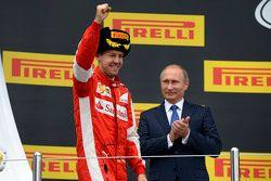 Third place Sebastian Vettel, Ferrari
