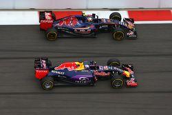 Daniel Ricciardo, Red Bull Racing and Carlo Sainz, Scuderia Toro Rosso