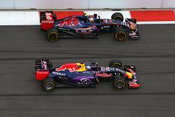 Daniel Ricciardo, Red Bull Racing e Carlo Sainz, Scuderia Toro Rosso