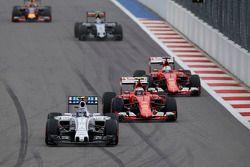 Valtteri Bottas, Williams and Kimi Raikkonen and Sebastian Vettel, Ferrari