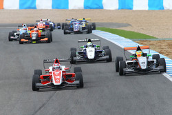 Martin Kodric, , Fortec Motorsports and Jehan Daruvala, Fortec Motorsports