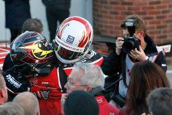 Gordon Shedden, Honda Yuasa Racing Honda Civic Type R viert met Matt Neal, Honda Yuasa Racing Honda