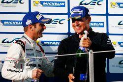 Romain Dumas, Porsche Team with Fritz Enzinger, Head of Department LMP1 Porsche Team