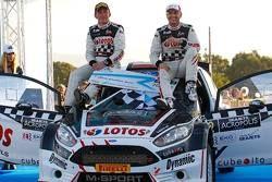 I vincitori Kajetan Kajetanowicz e Jarek Baran, Ford Fiesta R5