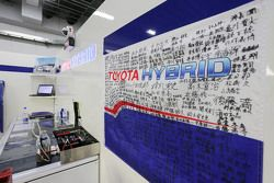 Sfeer in de Toyota Racing garage