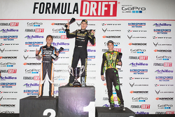 Podium: winner Fredric Aasbo, second place Ken Gushi, third place Forrest Wang