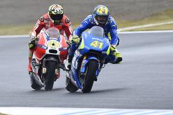 Aleix Espargaro, Team Suzuki MotoGP et Andrea Iannone, Ducati Team