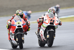 Andrea Iannone, Ducati Team et Danilo Petrucci, Pramac Racing