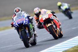 Jorge Lorenzo, Yamaha Factory Racing y Dani Pedrosa, Repsol Honda Team