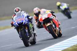 Jorge Lorenzo, Yamaha Factory Racing et Dani Pedrosa, Repsol Honda Team