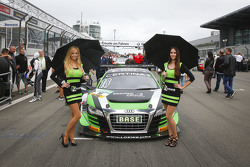 Grid girls for #16 Yaco Racing Audi R8 LMS ultra: Rahel Frey, Philip Geipel