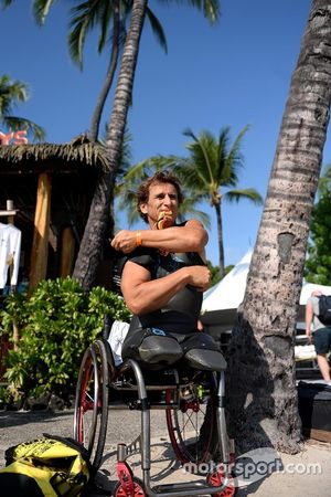 Alex Zanardi prepares to compete in Hawaii Ironman triathlon