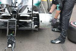 Грелка тормозов на машине Mercedes