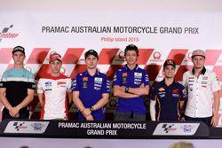 Pressekonferenz: Danny Kent, Andrea Dovizioso, Ducati Team; Jorge Lorenzo, Yamaha Factory Racing; Va