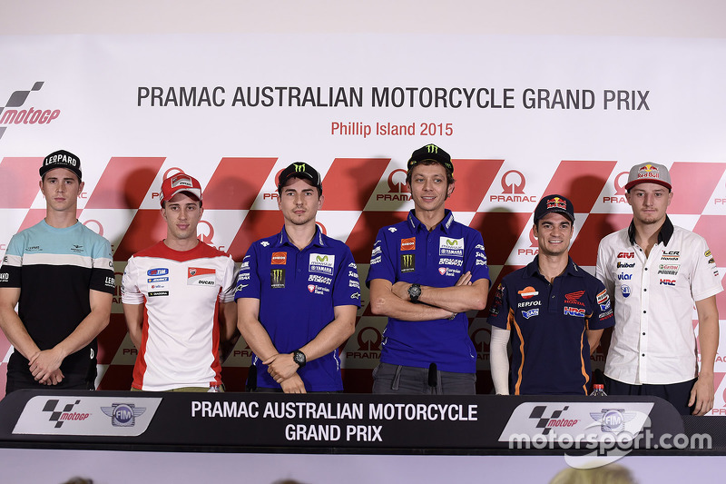 Pre-event press conference: Danny Kent, Andrea Dovizioso, Ducati Team, Jorge Lorenzo, Yamaha Factory