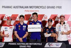 Conférence de presse : Andrea Dovizioso, Ducati Team, Jorge Lorenzo, Yamaha Factory Racing, Valentino Rossi, Yamaha Factory Racing, Dani Pedrosa, Repsol Honda Team, Jack Miller, LCR Honda