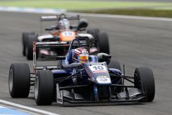 George Russell, Carlin Dallara Volkswagen y Matt Solomon, Double R Racing Dallara Mercedes-Benz