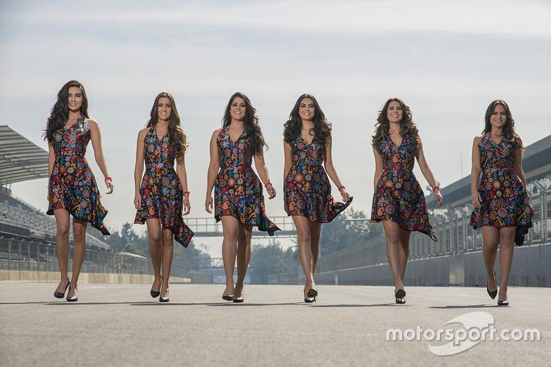 Meksika GP'si grid kızları