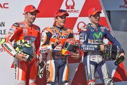 Топ-три квалификации: обладатель поула - Марк Маркес, Repsol Honda Team, второе место - Андреа Яннон