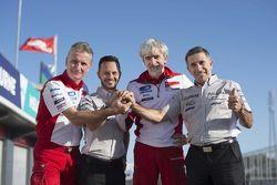 Annonce Aspar-Ducati : Paolo Ciabatti, Gino Borsoi, Gigi Dall'Igna et Jorge Martinez
