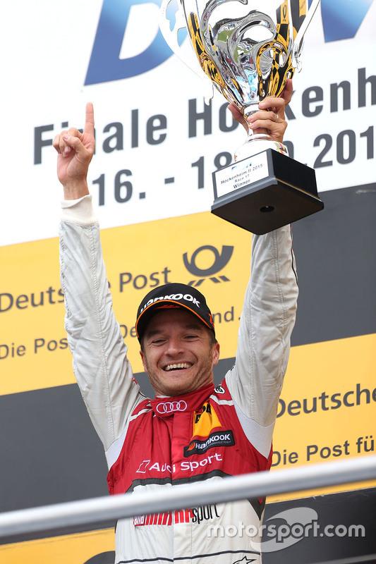 Podium: race winner Timo Scheider, Audi Sport Team Phoenix Audi RS 5 DTM