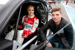 Mikaela Ahlin-Kottulinsky with boyfriend Max Verstappen, Red Bull Racing